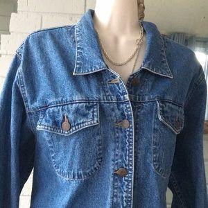 Ruff Hewn True American wear Jean shirt jacket L